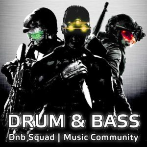 Dnb SquDnb Squad - Listen Drum and Bass Music Online: Neurofunk, Liquid Funk, Ragga Jungle, Old School Junglead Logo