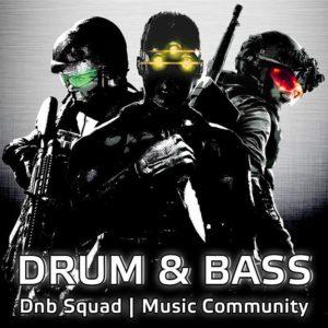 Dnb SquDnb Squad - Listen Drum and Bass Music Online: Neurofunk, Liquid Funk, Ragga Jungle, Old School Junglead Logo